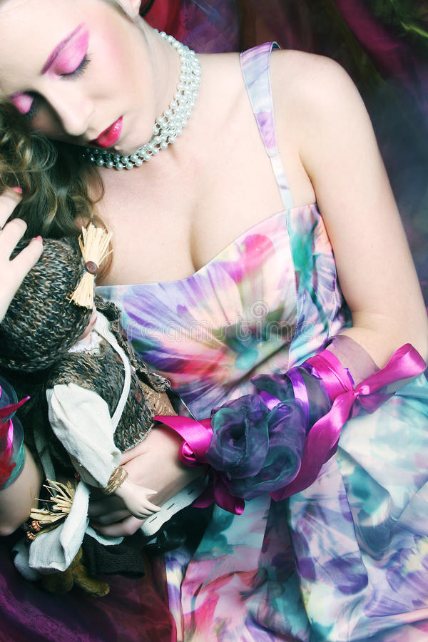Download Beautiful Woman Lay On Organza. Sleeping Beauty. Stock Photo - Image of beauty, healthy: 39697624