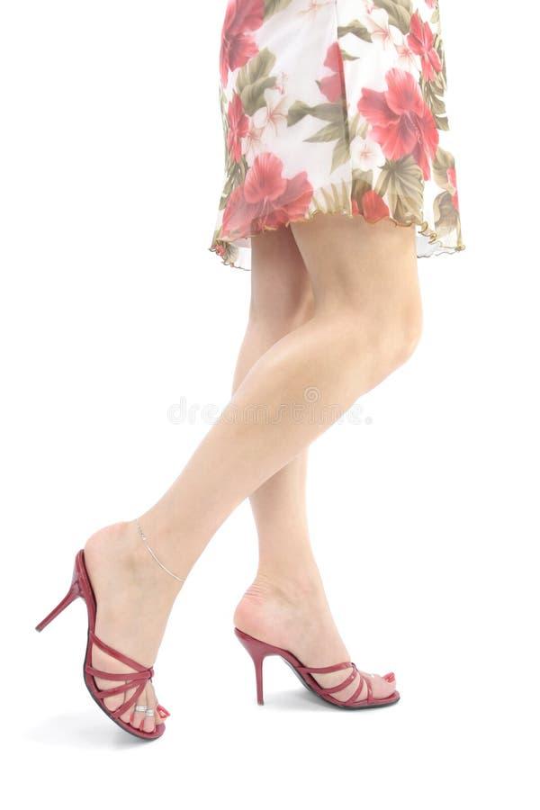 Free Beautiful Woman Legs And Feet Wearing Short Dress Stock Photo - 9183520