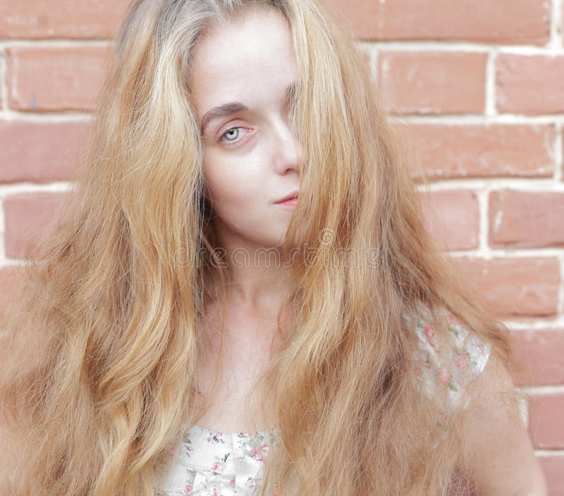 Download Beautiful Woman With Long Blond Hairs Stock Image - Image: 26438555