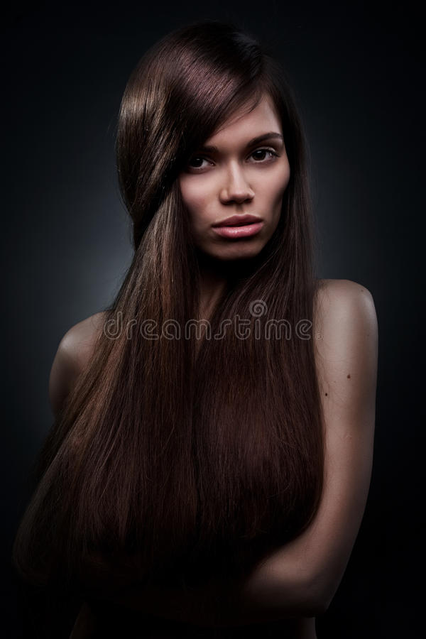 Download Beautiful Woman With Long Hair Stock Photo - Image: 25487054
