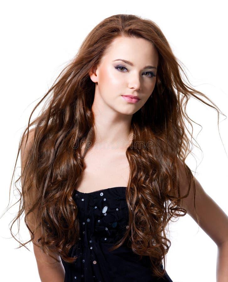Beautiful Woman With Long Hairs Stock Photo