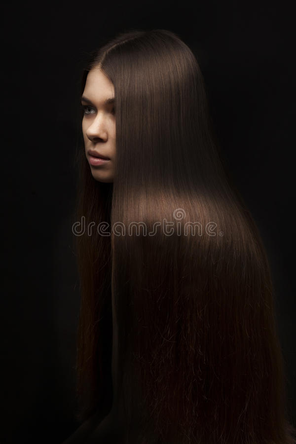 Download Beautiful Woman With Long Straight Hair Stock Image - Image: 29882801