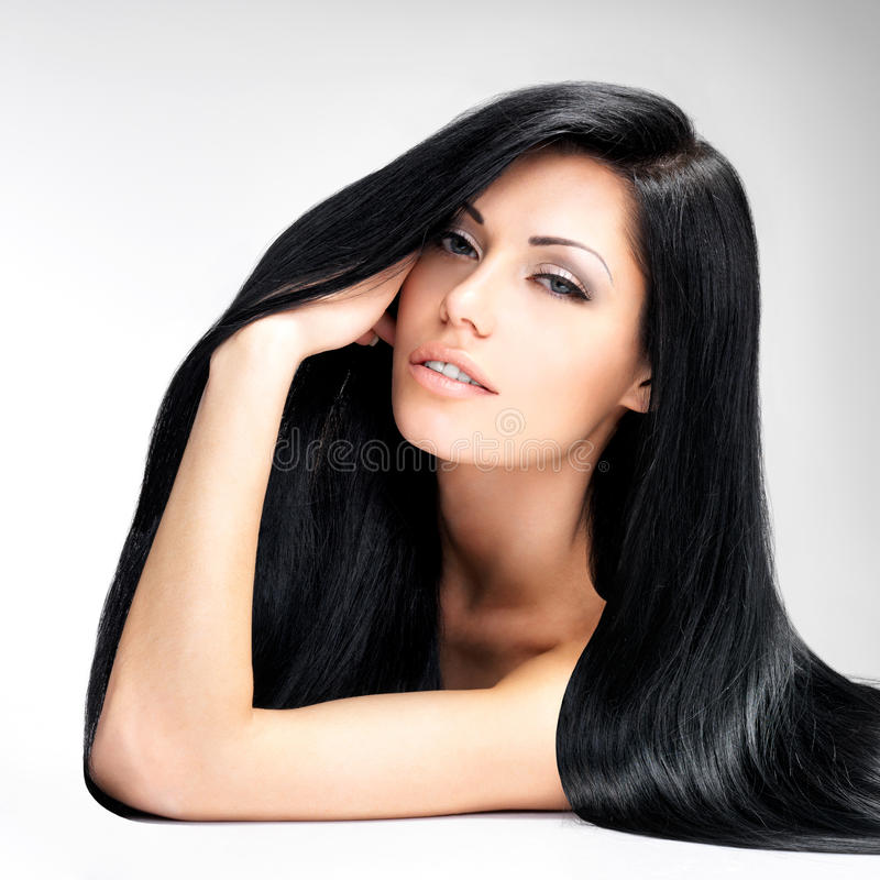 Download Beautiful  Woman With Long Straight Hair Stock Image - Image of excellent, posing: 45356473
