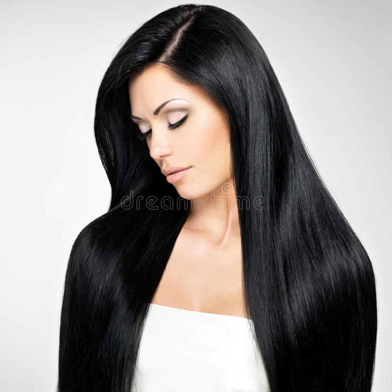 Download Beautiful  Woman With Long Straight Hairs Stock Image - Image: 29638463