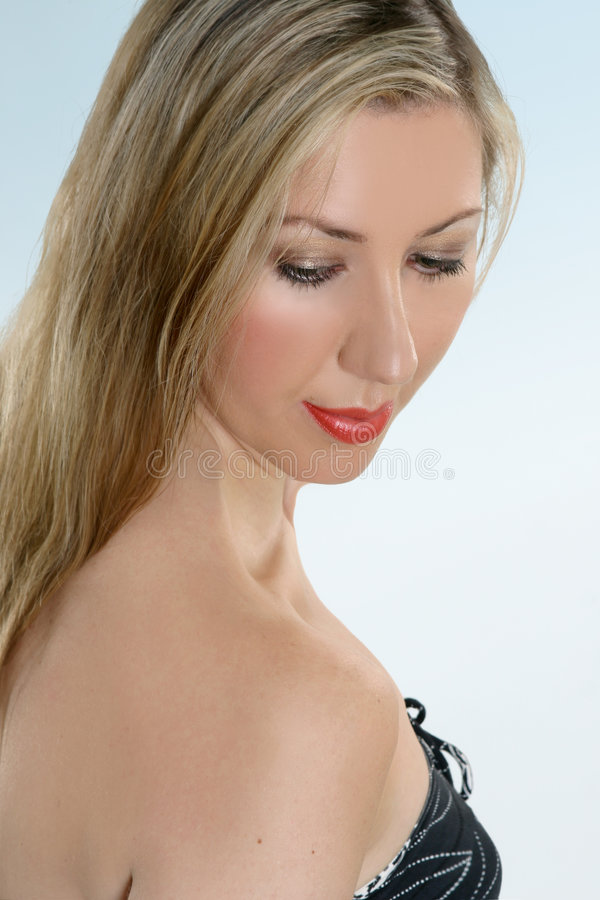 Download Beautiful Woman Looking Down Stock Photo - Image: 1436922