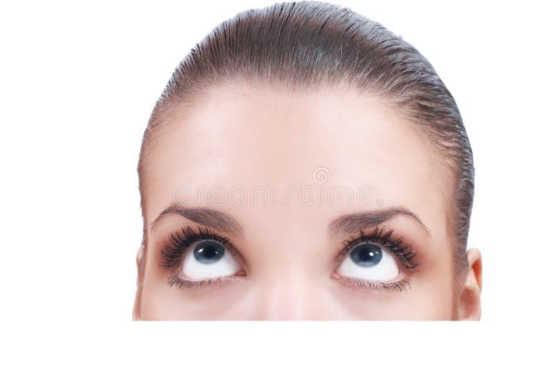 Download Beautiful woman looking up stock photo. Image of closeup - 14851344