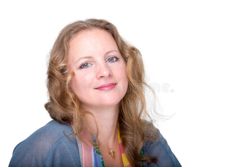 Beautiful woman looking at you emotionally royalty free stock photos