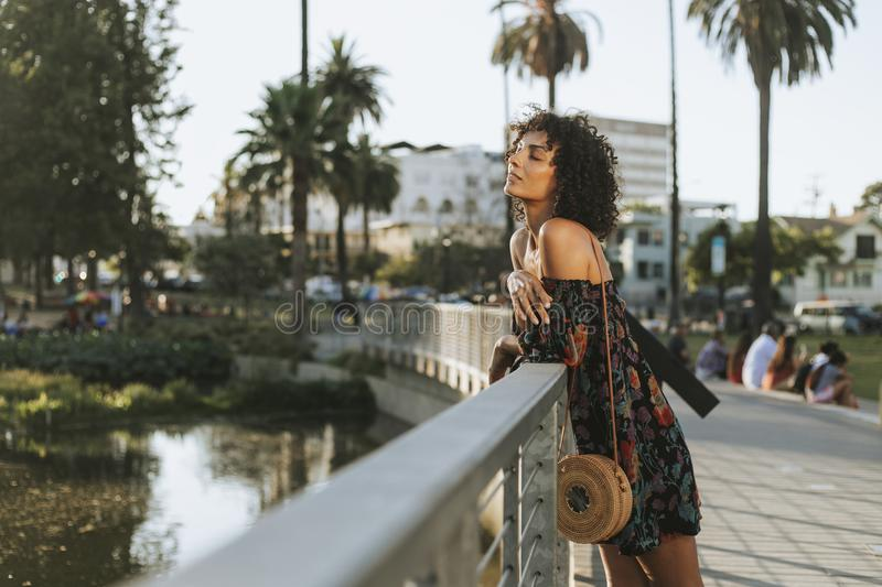 Beautiful woman in Los Angeles royalty free stock photo