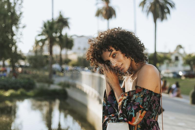 Beautiful woman in Los Angeles royalty free stock image