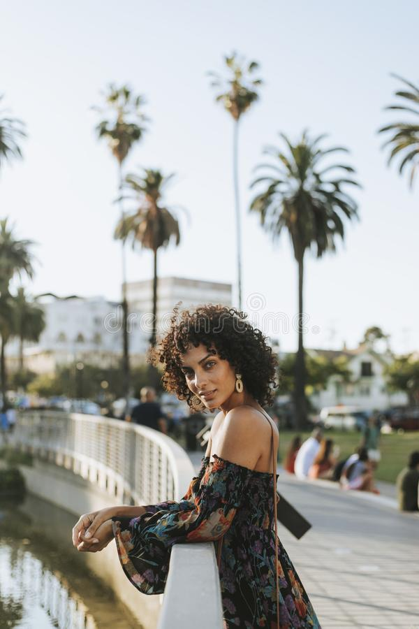 Beautiful woman in Los Angeles royalty free stock photos