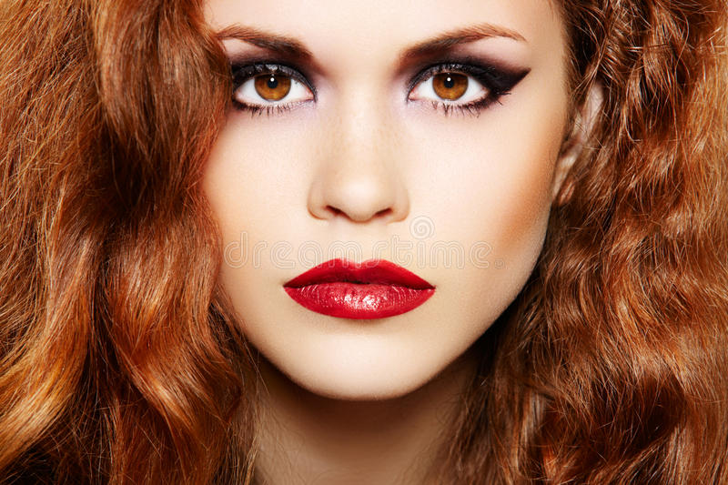 Download Beautiful Woman With Luxury Make-up And Curly Hair Stock Photo - Image: 16190880
