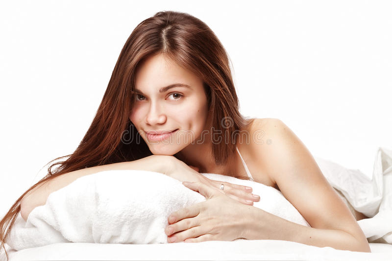 Download Beautiful Woman Lying Down In Bed Royalty Free Stock Photo - Image: 23335545