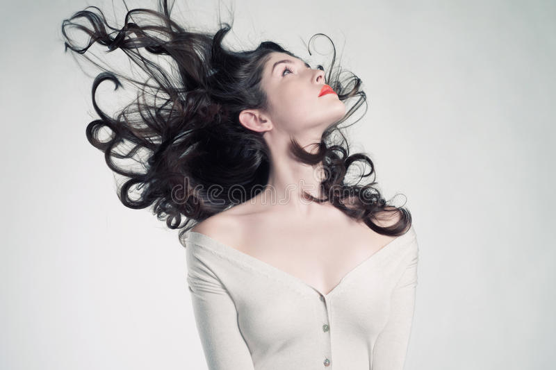 Download Beautiful Woman With Magnificent Hair Stock Image - Image of glamour, elegance: 23087315
