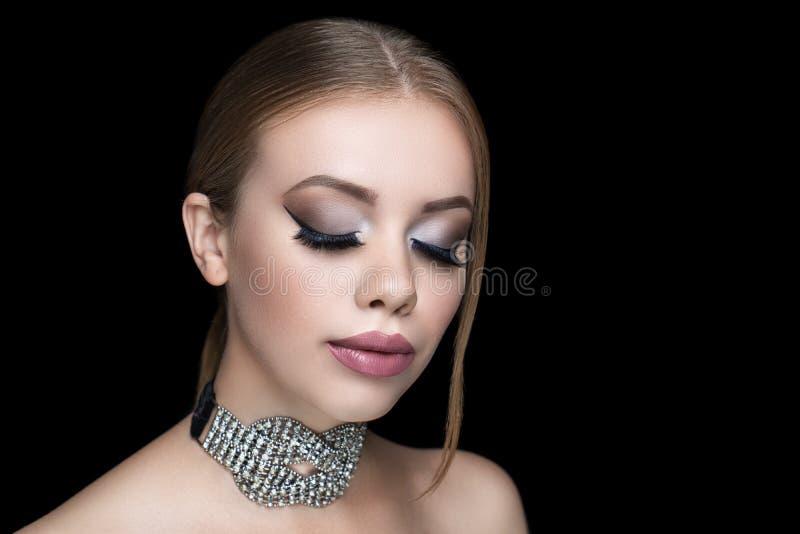 Beautiful woman make up royalty free stock image