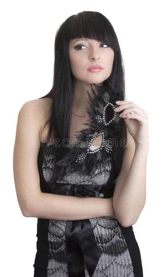 Download Beautiful woman with mask stock image. Image of standing - 22174373