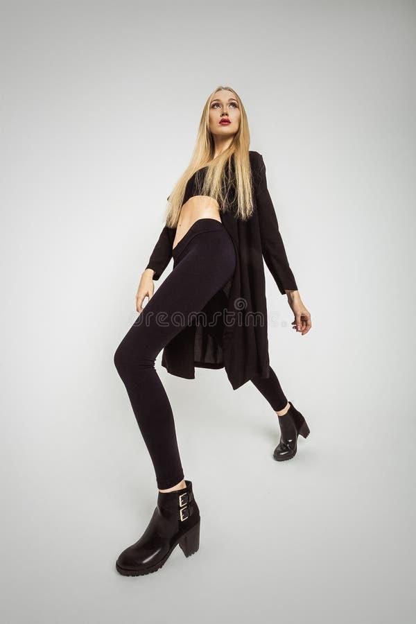 Beautiful Woman Model Fashion Posing In Modern Style royalty free stock photo