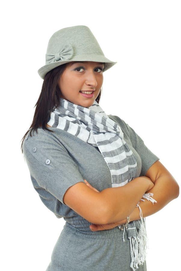 Beautiful woman model smiling stock images