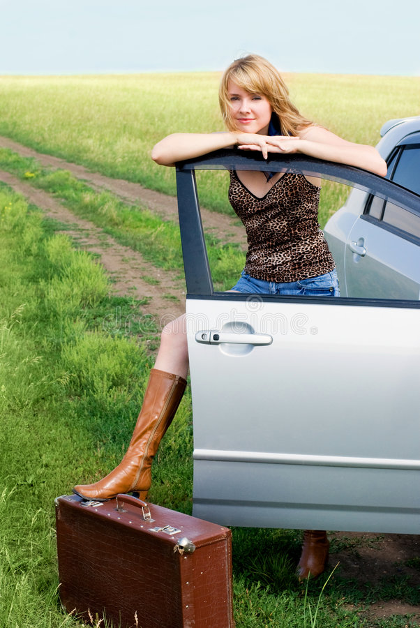 Download Beautiful Woman Near Her Car Stock Image - Image of body, calm: 5844281