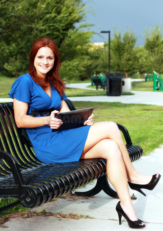 Free Beautiful Woman On Park Bench Stock Images - 20985774
