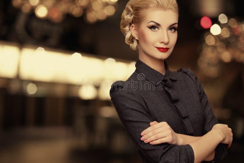 Beautiful Woman Outdoor At Night Stock Photos
