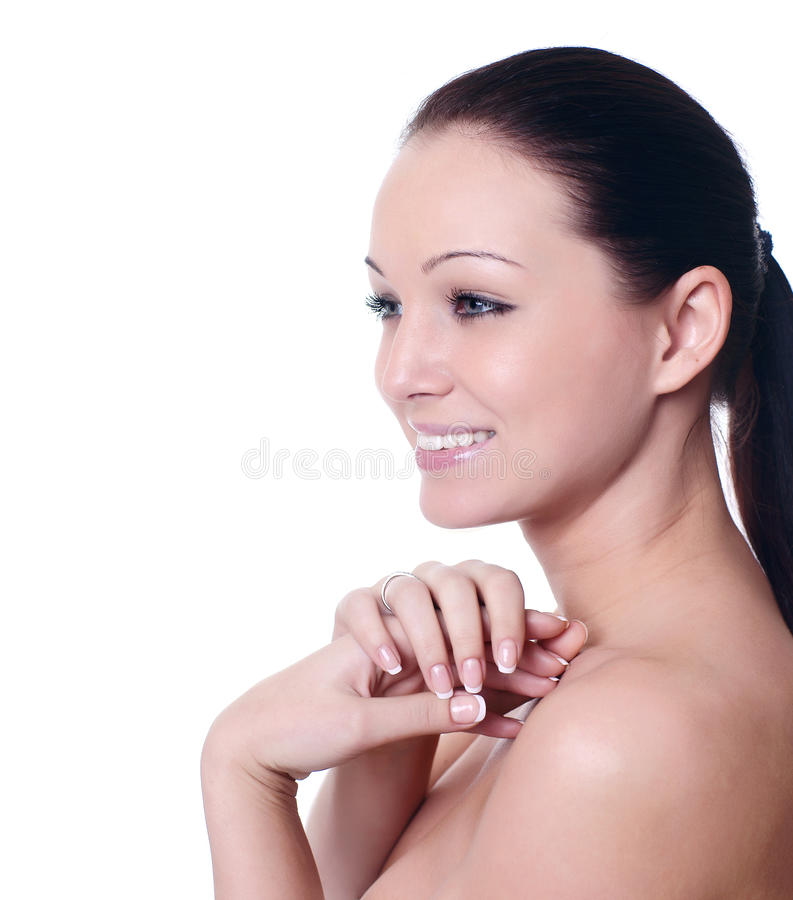 Download Beautiful Woman With Perfect Skin Stock Photo - Image: 12576584