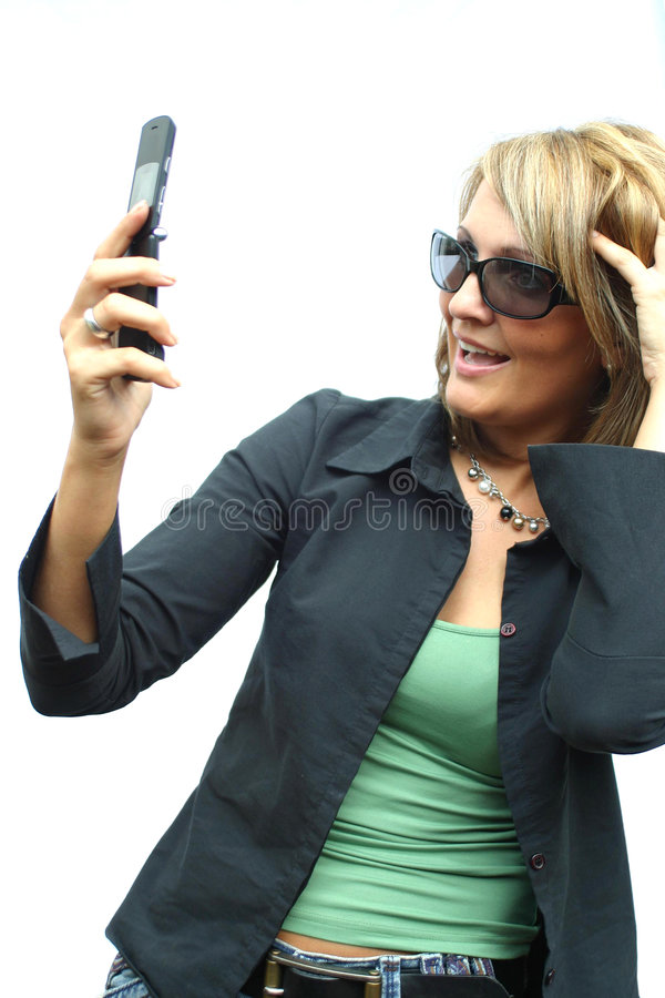 A beautiful Woman with phone. A beautiful Woman with a mobile phone stock image