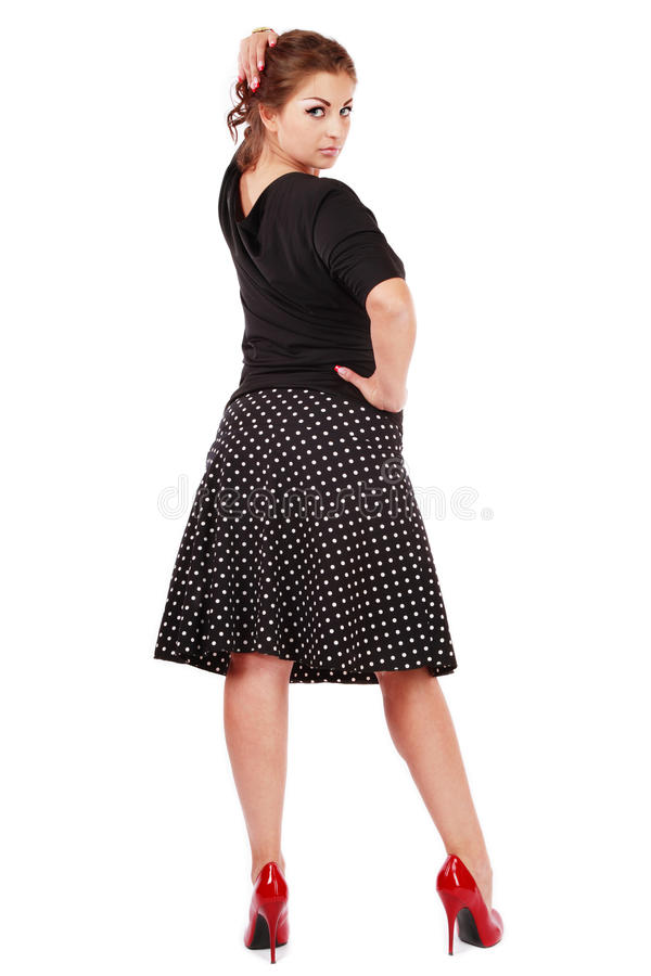Beautiful woman plus-size stock images