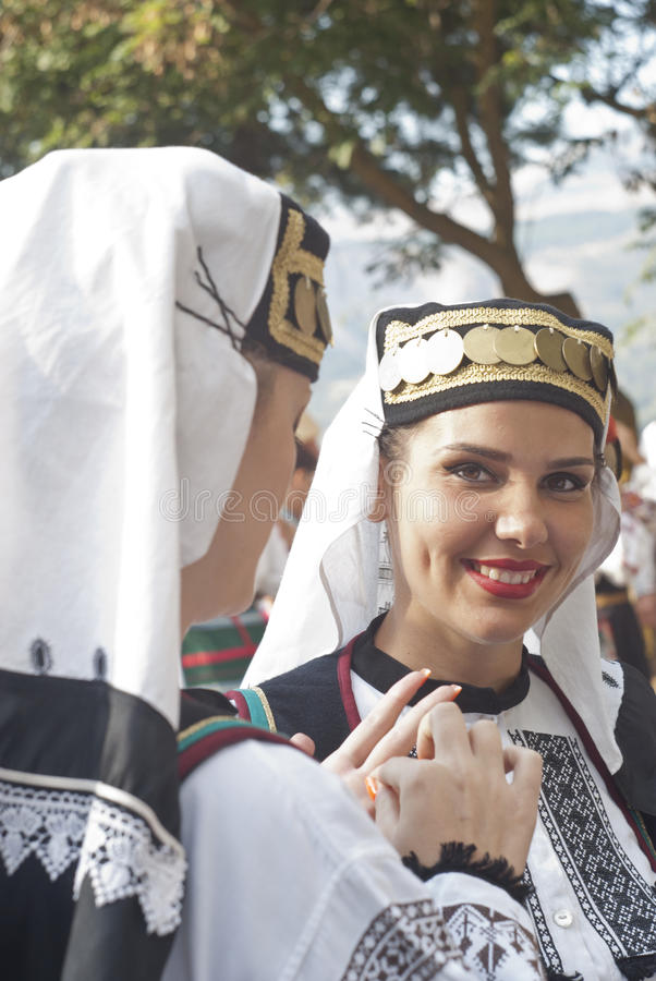 Beautiful woman of Poland folk group
