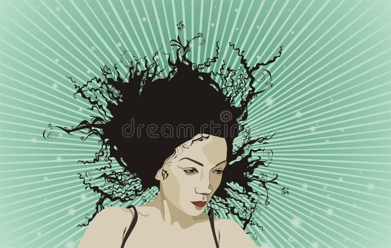 Beautiful woman portrait vector illustration