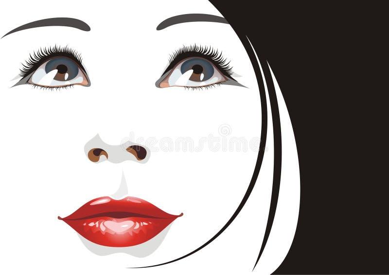 Beautiful woman portrait. (vector illustration