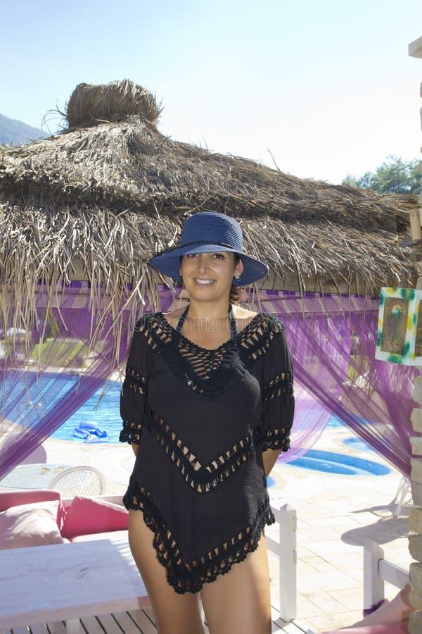 Beautiful woman portrait in Antalya,Turkey royalty free stock photography
