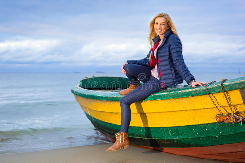 Download Beautiful Woman Portrait At The Sea Stock Image - Image: 35357675