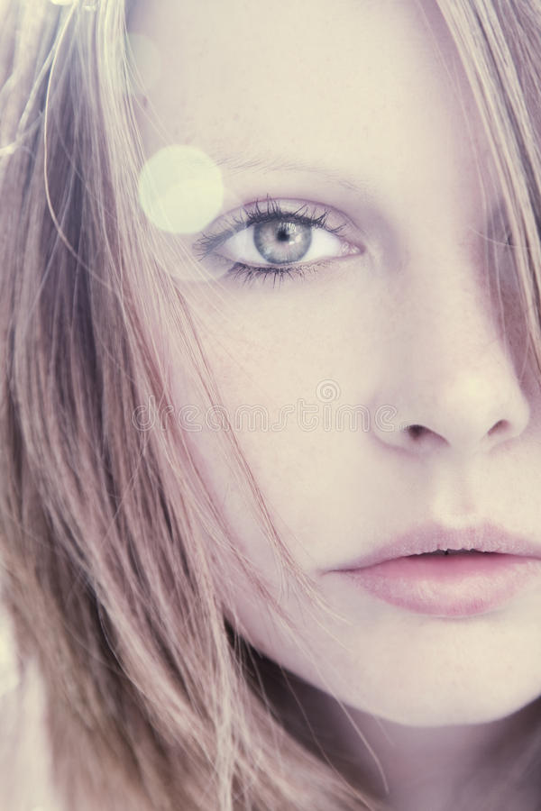 Beautiful Woman Portrait. Sensual and fragile royalty free stock images
