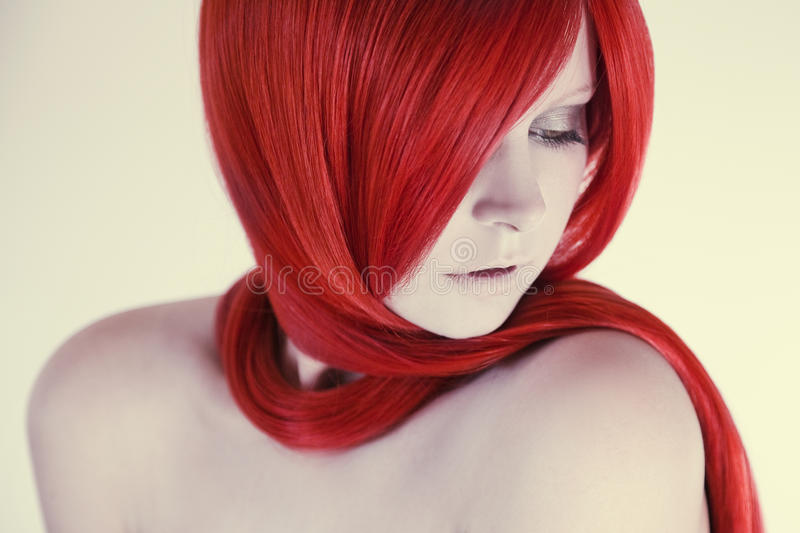 Beautiful Woman Portrait. Sensual and fragile royalty free stock photos