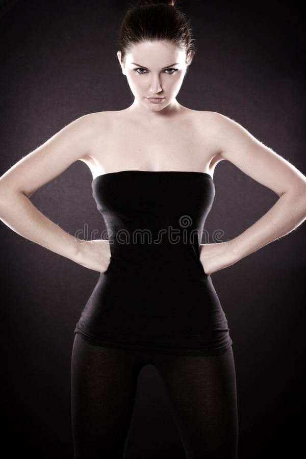 Beautiful woman posing royalty free stock photos