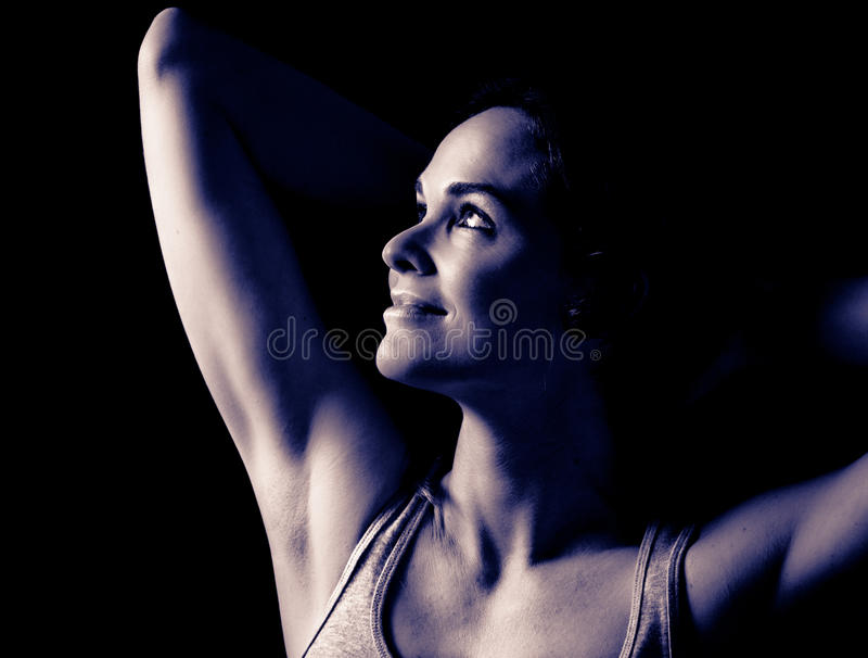 Beautiful woman posing stock photos