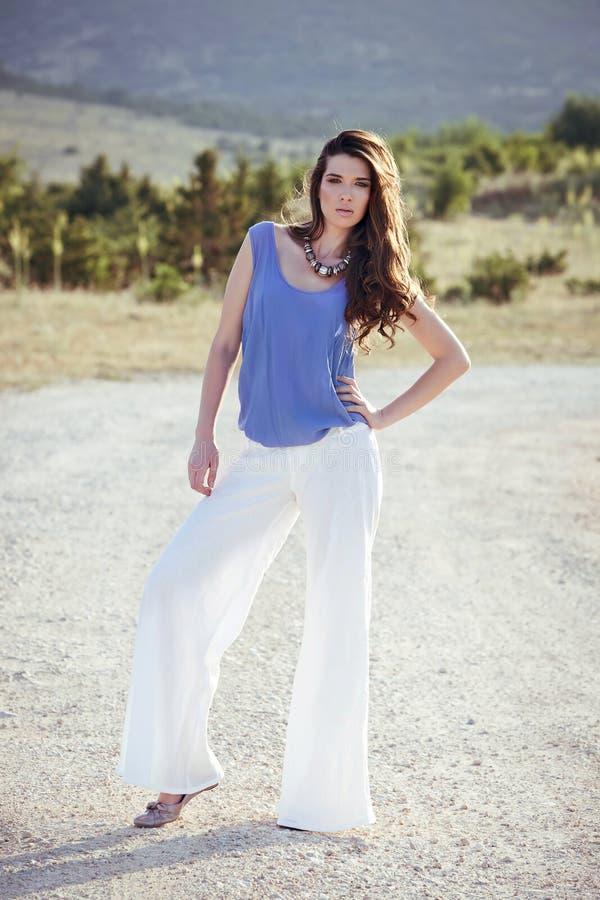 Beautiful woman posing stock photos