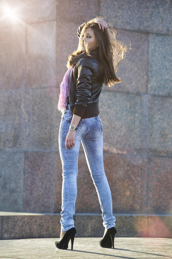 Download Beautiful Woman Posing Outdoors Stock Photo - Image: 14108546