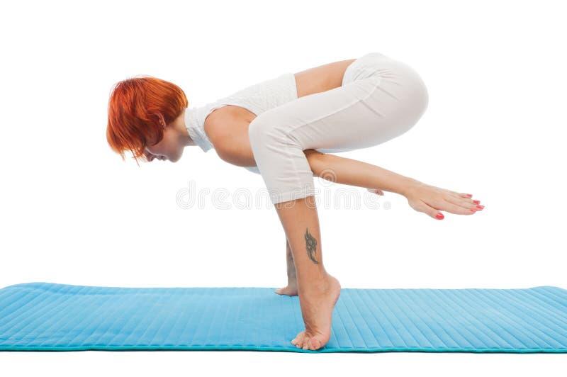 Beautiful woman practicing yoga asana