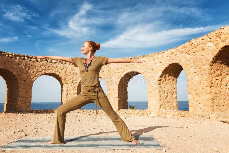 Download Beautiful Woman Practicing Yoga Stock Photo - Image: 30000502