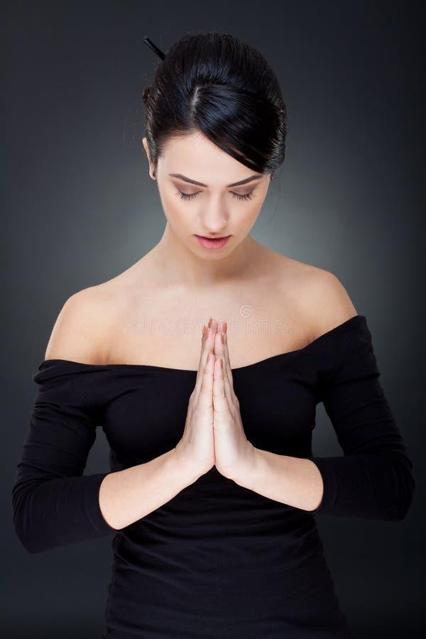 Free Beautiful Woman Praying Stock Photo - 18593030