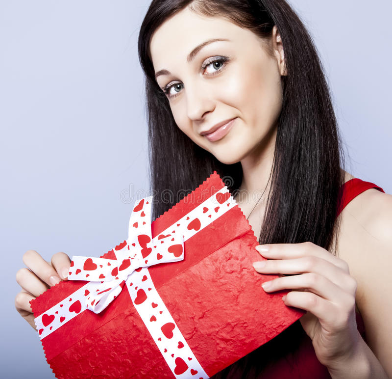 Download Beautiful Woman With Present Stock Image - Image: 23553229