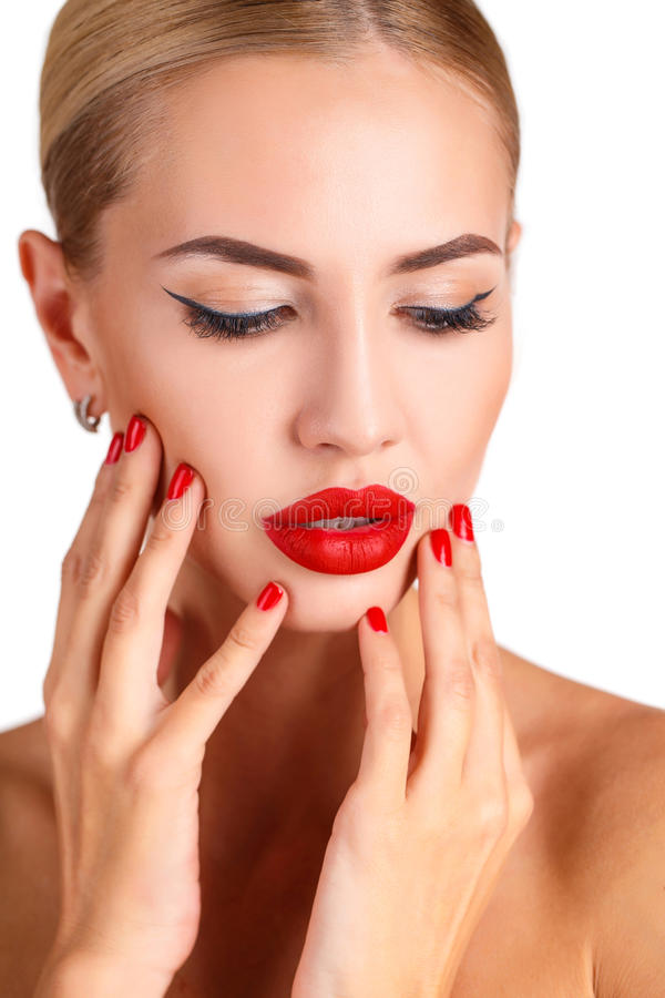 Beautiful woman with professional make up royalty free stock photography