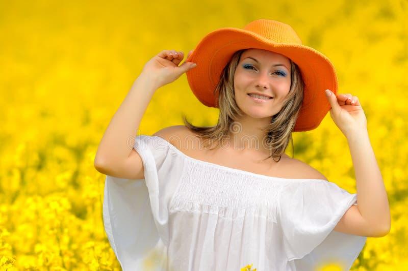 Download Beautiful woman on field stock photo. Image of beauty - 9825998