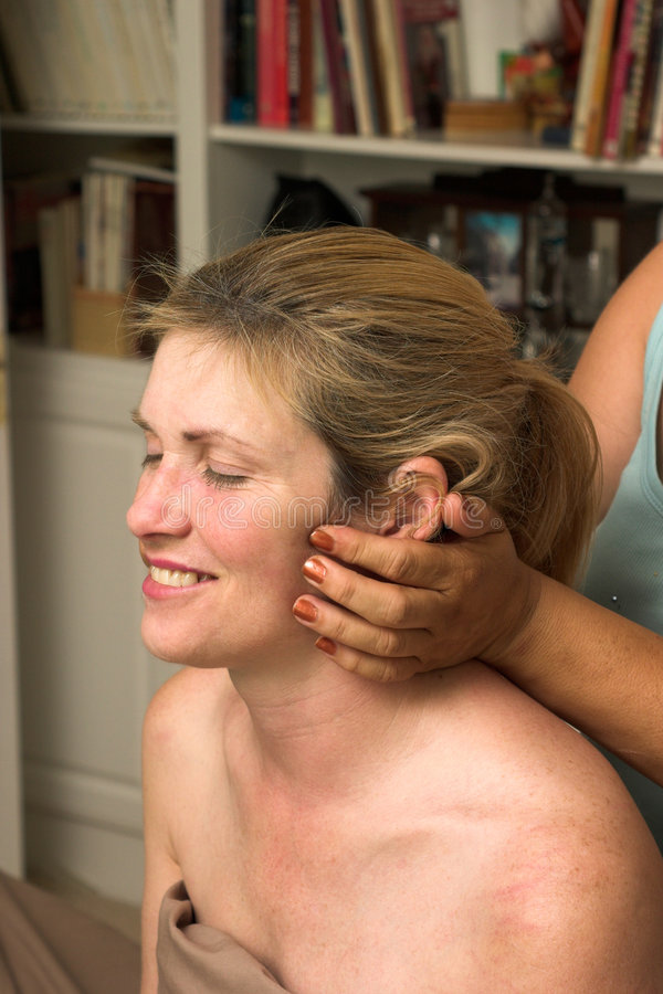 Download Beautiful Woman Receiving Massage 66 Stock Image - Image: 789751