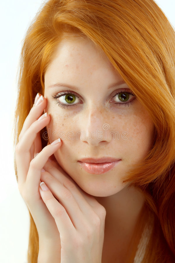 Download Beautiful Woman With Red Hair Stock Image - Image: 8980161