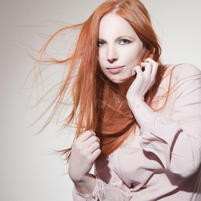 Download Beautiful Woman With Red Hair Stock Image - Image of clean, gloss: 39502913