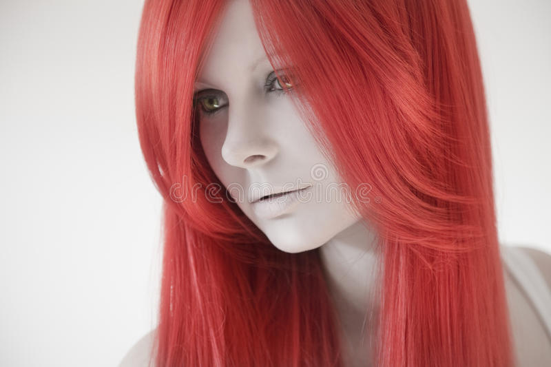 Download Beautiful Woman With Red Hair Stock Image - Image of health, artist: 39502803