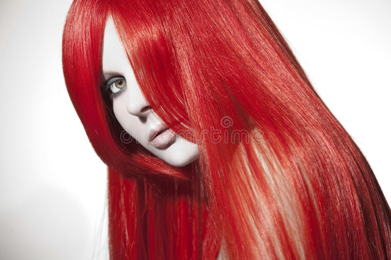 Beautiful woman with red hair. Studio shot royalty free stock images