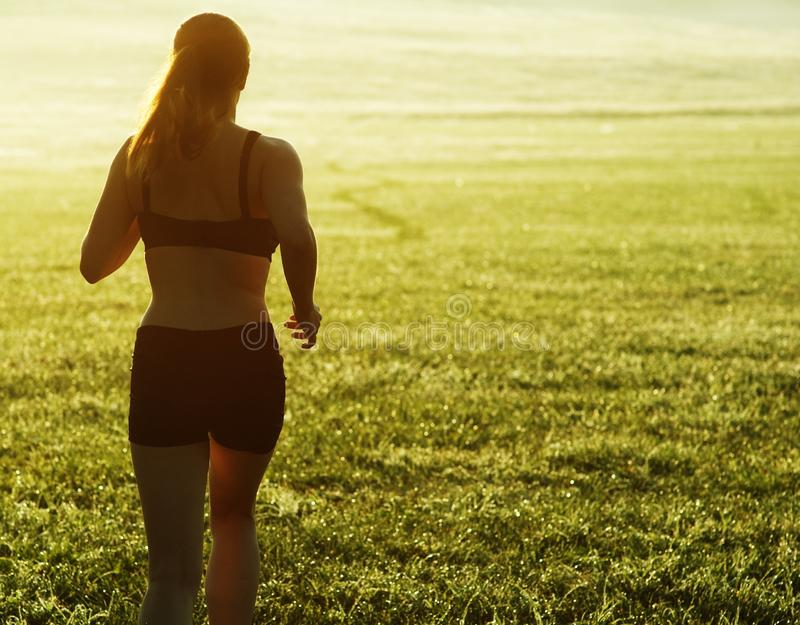 Beautiful Woman Runner Stock Image